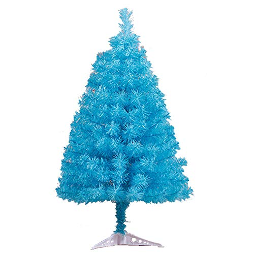 Christmas Tree Sky Blue, Artificial Realistic Natural Branches Pine Xmas Traditional Decorations Indoor, Family Christmas Decorations Holiday Small Christmas Tree-2ft