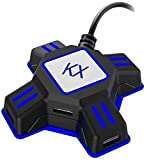 Voltage Converter,Universal Travel Adapter for Switch/Xbox/PS4/PS3 International Chargers ,Black KX USB Game Controller Converter Keyboard Mouse(Blue)