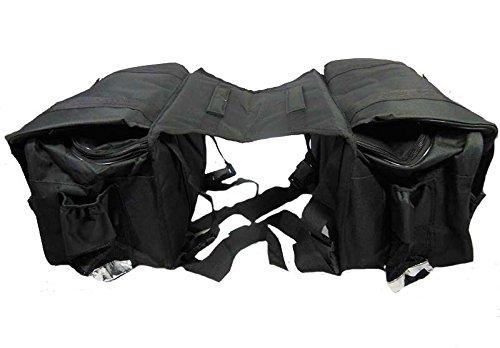 Royal Erado RGSB-37 Two Wheeler Hanging Saddlebag for Bikes (Set of 2, Black)