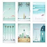 JUNIQE® Poster-Set - Reiseposter - Poster & Prints für