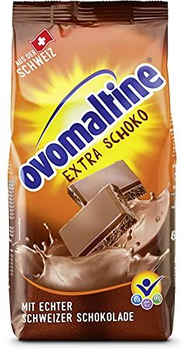 Ovomaltine Extra Schoko Trinkschokolade - Kakao-Pulver mit der extra Portion Schweizer Schokolade, Malz und hochwertigem Cacao für heiße Schokolade, nachhaltig und UTZ-zertifiziert (1 x 450g)
