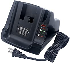 Biswaye Battery Charger for Black+Decker LCS36 LCS40 40V MAX Fast Charger, Compatible Black & Decker 36V 40V Max Li-ion Battery LBXR36 LBX36 LBXR2036 LBX1540 LBX2040 LBX2540