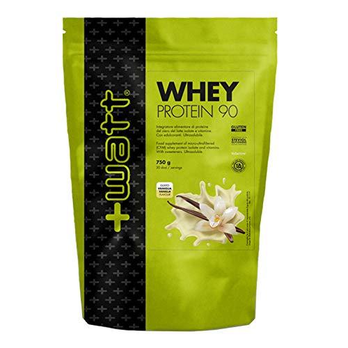 Whey Protein 90 - +Watt - Proteine del Siero del Latte 750g Crema