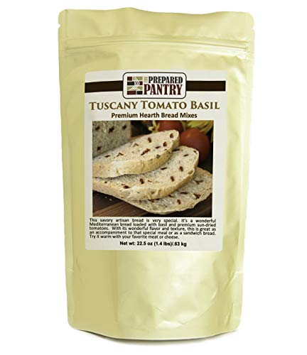 The Prepared Pantry Tuscany Tomato Basil Bread Mix; Single Pack; For Bread Machine or Oven