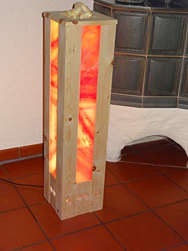 HimaZirb, Zirbenholz-Lüfter, Raumbedufter, Luftreiniger, Duftspender, Lufterfrischer, Luftbefeuchter aus Zirbenholz und Himalayasalszsteinen, zur Aromatherapie Lichttherapie geeignet