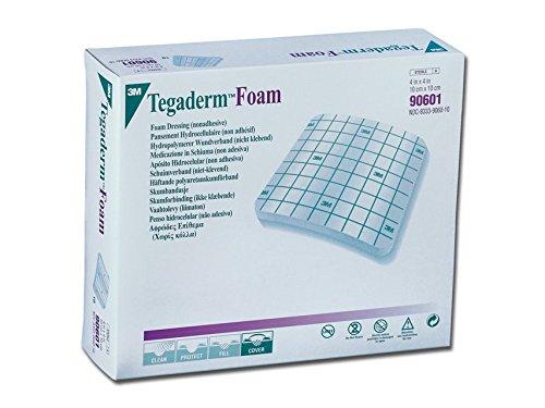 3M TegadermTM Foam 10 x 10 cm niet-klevend polyurethaan medaillon, 10 stuks