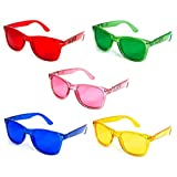 GloFX Color Therapy Glasses - 5 Pack - Chakra Mood Light Therapy Chromotherapy Glasses