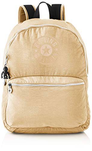 Kipling Kiryas, Backpacks Unisex-Adulto, Beige/Nero, 12.5x32.5x44 cm