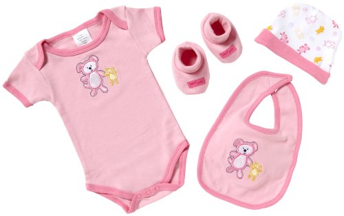 Playshoes Geschenk-Set - 4-teilig 521701 Baby - Mädchen Babybekleidung/ Bekleidungssets, Gr. one size Rosa (rose 32)