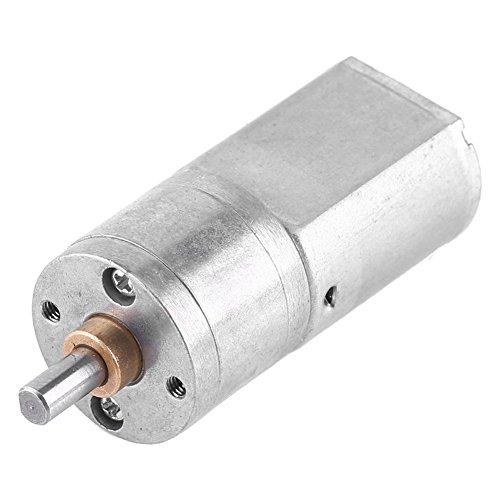 Akozon Zahnrad Motor DC 12V Hochdrehmoment Turbo Elektrischer Getriebe-Reduzierungs-Motor äußerer Durchmesser 20MM Total Metall Geschwindigkeitsreduzierung Getriebe 15/30/50/100/200RPM(200 U/min)
