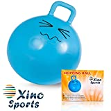 Xino Sports Hopping Ball for Kids - Teenagers and Adults, Offers Hours of Incredible Fun for Boys and Girls, Amazing Space Hopper Ball, Safe and Durable Jumping Ball with Handle, 22 Inch Diameter