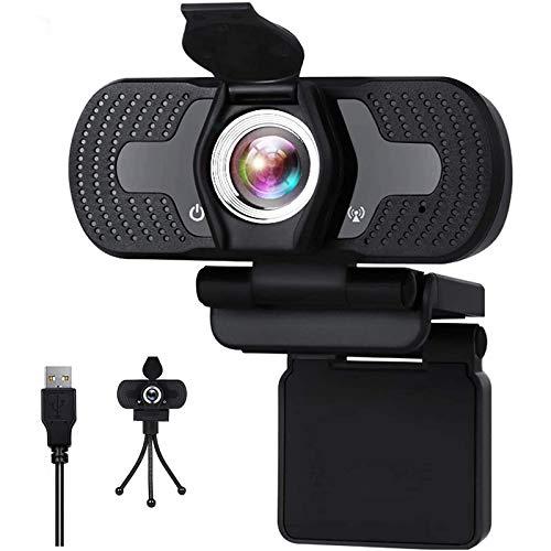 Aode Webcam mit Mikrofon Full HD 1080P PC Web Kamera Einstellbare Klarheit für Videoanrufe, Studieren, Konferenz und Live Streaming, Webcam Kompatibel mit Windows/Chrome/Mac OS