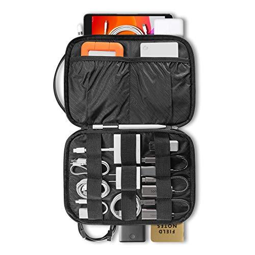 tomtoc Organizer Elettronico Da Viaggio Kit Cavi Universale Organizzatore di Gestione Accessori Custodia per iPad Mini, Cavo, Caricabatterie, Telefono, USB, Scheda SD