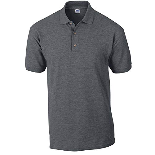 Gildan - Ultra Cotton Ringspun Piqué-Poloshirt - bis Gr. 5XL / Dark Heather, 4XL
