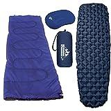 Outdoorsman Lab Ultralight Sleeping Pad with Pillow and Lightweight Sleeping Bag