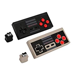 ✔ LONG DISTANCE CONNECTION: The connection mode of the wireless nes classic games controller is 2.4G and the longest distance connection is up to 8 meters, which is long enough for you to play wherever you want. ✔ MAKE YOUR GAMES MORE FUN: There are ...