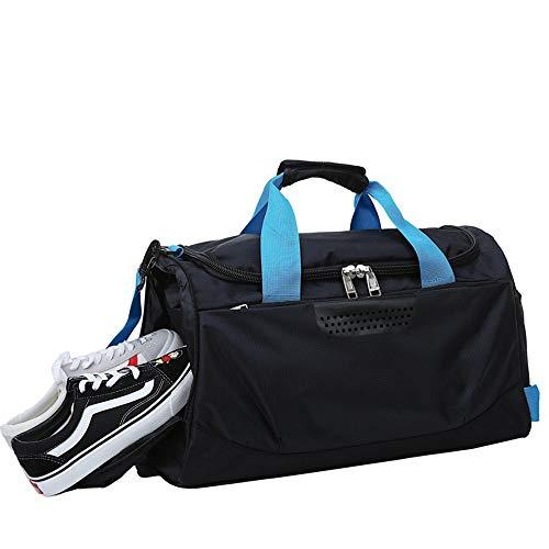 YAzNdom Bolsa De Fitness Gimnasio Deportes Bolsa Bolsa Baloncesto con Independiente Espacio Zapatos de Gran Capacidad portátil Bolsa de Viaje Adecuado para Viaje De Senderismo