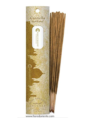 CINNAMOM Traditional Incense 10sticks 20gr - 100% Natural - FIORE D'ORIENTE