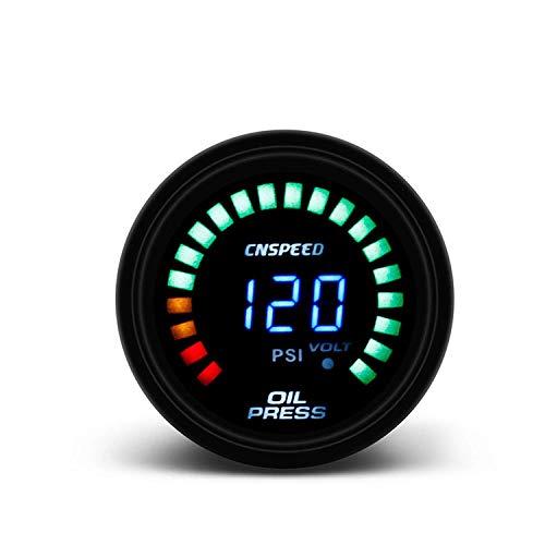 LILICEN 2' 52mm Ahumado Digital LED 20 PSI Prensa de Aceite Indicador de presión del medidor con el Sensor Metro del Coche for el Coche del Carro del Barco