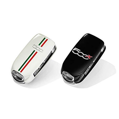 Originele Fiat 500X sleutelcover wit met Italiaanse vlag, zwart