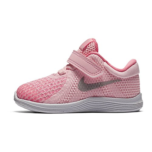 Nike Revolution 4 (TDV), Pantofole Unisex-Bimbi 0-24, Rosa (Arctic Punch/Metalli 600), 22 EU