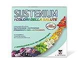 Sustenium I Colori della Salute Mix5 - Integratore Multivitaminico con Vitamina B e C, fonte di Betacarotene con Fitonutrienti, Fibre e Antiossidanti, gusto Arancia. Confezione da 14 bustine da 9,5gr