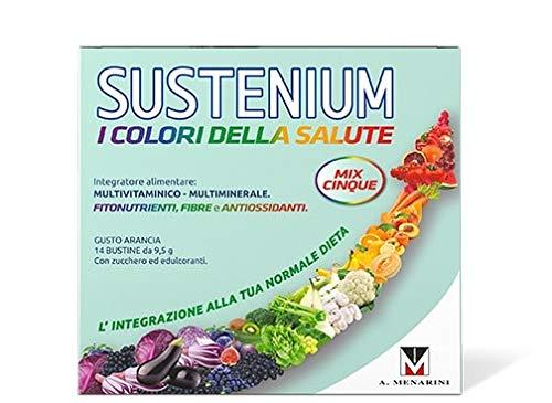 Sustenium Colori Della Salute Mix5 - Integratore Multivitaminico Con Vitamina B E C, Fonte Di Betacarotene Con Fitonutrienti, Fibre E Antiossidanti - 133 g