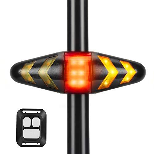 Indicatori di Direzione per Bici Senza Fili con Telecomando, Impermeabilità IPX2, Bicicletta Scooter Indicatore di Direzione Lampeggiante Direzionale per Guida Notturna di Sicurezza