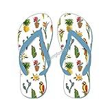 Sandalia de fondo tropical con diseño de cactus para loro y pájaros, para hombre y mujer
