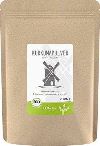 BIO Kurkuma Pulver gemahlen 1000g / 1 kg | Kurkumapulver - Curcuma - Curcumin | 100% naturrein |...