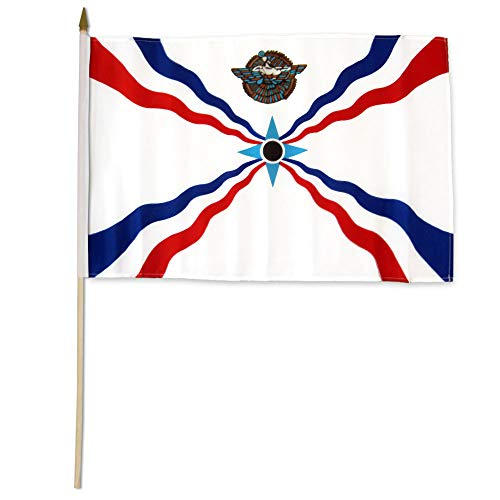 Flaggen Importeur STI-Assyrische Flaggen, 30,5 x 45,7 cm, Mehrfarbig