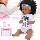frenma Muñeca Reborn, muñeca Suave de 22 Pulgadas, Camisa Blanca Impermeable Realista, muñeca simulada, Regalo para niñas y niños