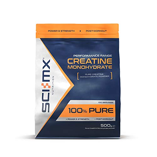 SCI-MX Nutrition Pure Creatine Monohydrate Powder, 500 g, Flavourless, 100 Servings