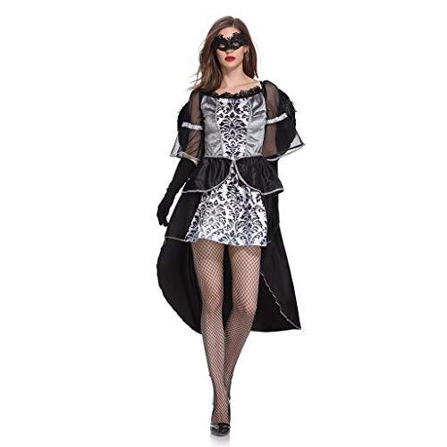 RISTHY Vestidos de Halloween para Mujeres Angel Cosplay Traje Fiesta Tulle Encaje Vestido