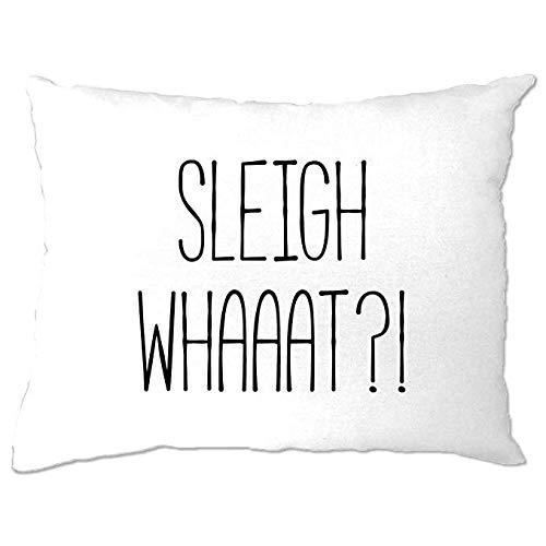Odeletqweenry - Funda de almohada para dormitorio, trineo, estacional, traviesa, buena lista de buenos elfos malos, familia, amigos, árbol de Navidad, regalo divertido, regalo divertido para decoración del hogar