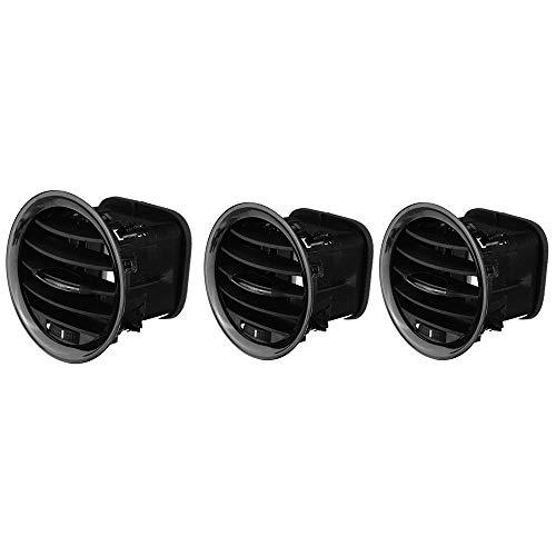 HYCy 3 uds, Calentador Interior de Coche A/C, Cubierta de ventilación de Aire, Rejilla de Salida para Opel Adam/Corsa D MK3, molduras de ventilación de Aire Acondicionado