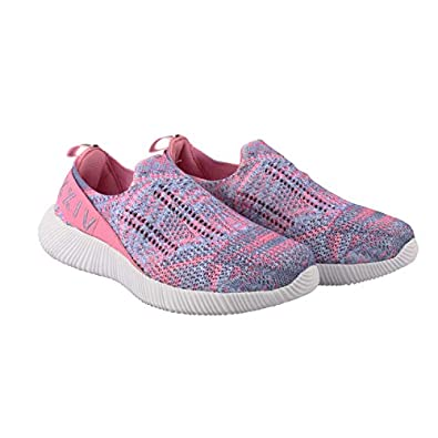 KazarMax XXIV Women's & Girl's Latest Collection, Comfortable Pink-Purple Slipon's Socks SneakersTrainers [WSS001] (Made in India)
