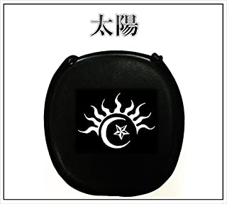新作 デザイン三線 ブラック&ホワイト 太陽 【海の声 工工四 プレゼント】 初心者セット付き