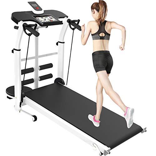 Mechanisches Laufband, Heimfitnessgeräte, LCD-Bildschirm und Kalorienzähler, ultradünnes und leises Laufband zum Abnehmen mit geringem Faltgewicht, Tablet-Unterstützung, Geräte für Heim/Büro