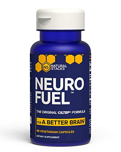 """Natural Stacks NeuroFuelâ""""¢ Brain Supplement 45 ct. - Daily Focus, Memory and Motivation Boost for Men & Women - U.S. Patented CILTEP Nootropic Formula"""