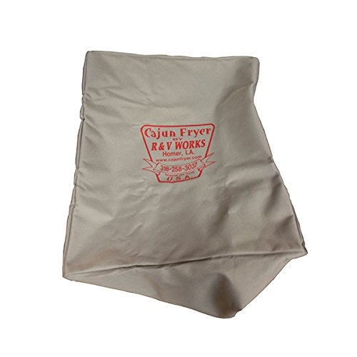 R&V WORKS 4 & 6 Gallon Canvas Fryer Cover with Heavy 600 Denier Canvas