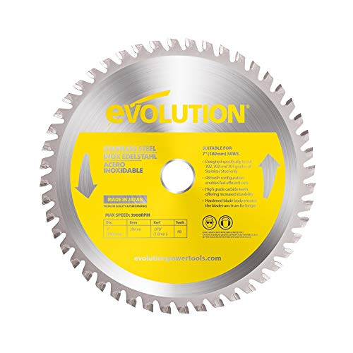 Evolution Power Tools acero inoxidable corte hoja de sierra, 180BLADESS