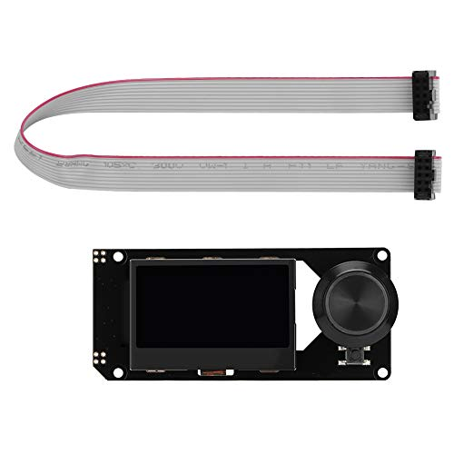 Accesorio de Impresora 3D MKS Mini 12864 Pantalla LCD Módulo de Control de Impresora 3D Soporte para Bricolaje con Soporte para Tarjeta SD(Negro sobre RGB)