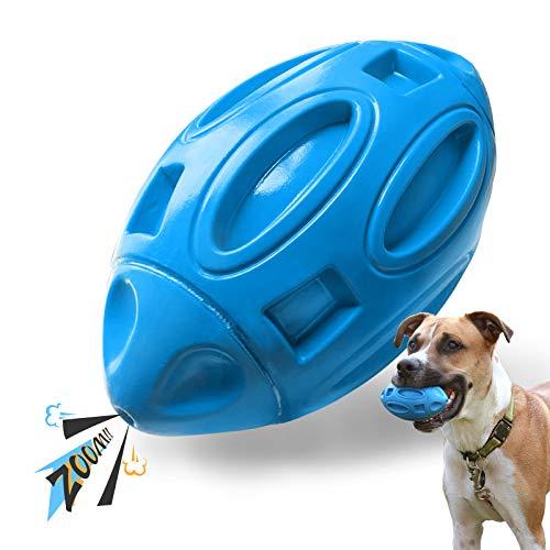 Eastblue Quietschendes Hundespielzeug für aggressive Kauer: Kauball für Welpen mit Quietscher, fast unzerstörbares und langlebiges Haustierspielzeug für...