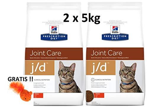 Hills Prescription Diet Feline j/d Joint Care: 2 x 5 kg Veterinary Diets + GRATIS