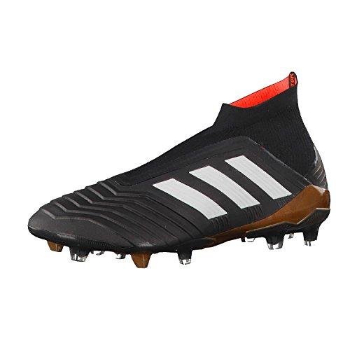 Adidas Predator 18+ FG, Botas de fútbol Hombre, Negro (Negbas/Ftwbla/Rojsol 000), 39 1/3 EU
