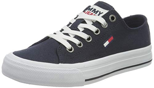 Tommy Jeans Low Cut Vulc, Zapatillas Mujer, Azul Marino Crepúsculo, 37 EU