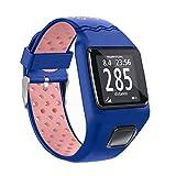 xiaoyao24 - Correa de repuesto de silicona suave antigolpes, compatible con Tom-Tom 1 Multi-Sport GPS, gestión de los recursos humanos CSS AM Cardio Runner accesorios de reloj