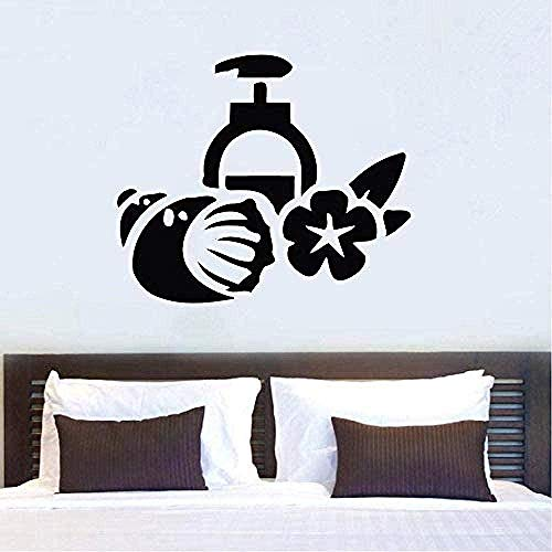 Muursticker voor de muur, mooie wellness, gezichtsverzorging, massage, modieus, 42 x 48 cm