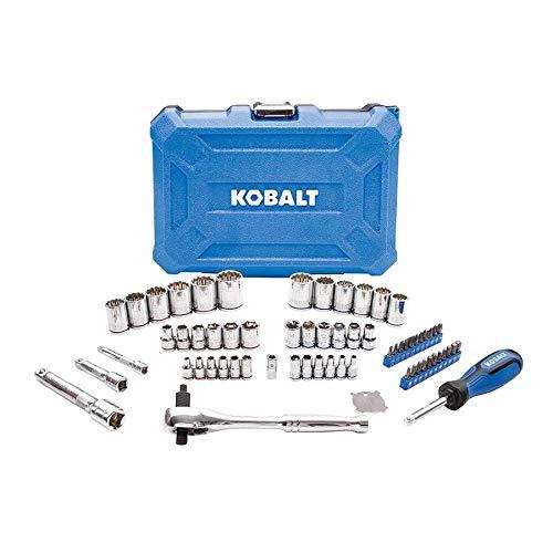 Kobalt 64-Piece Standard (SAE) and Metric Mechanic's Tool Set with Hard Case